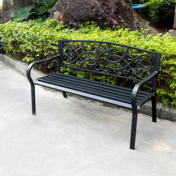 Factory Low Price Outdoor Cast Iron Garden Bench