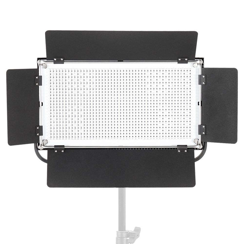 ASHANKS 75W LED Camera Video Panel Light Professional Continuous Dimmable Light for Studio, YouTube Outdoor Video Photography Lighting Kit, Durable Metal Frame, 3200-5600K CRI 90+