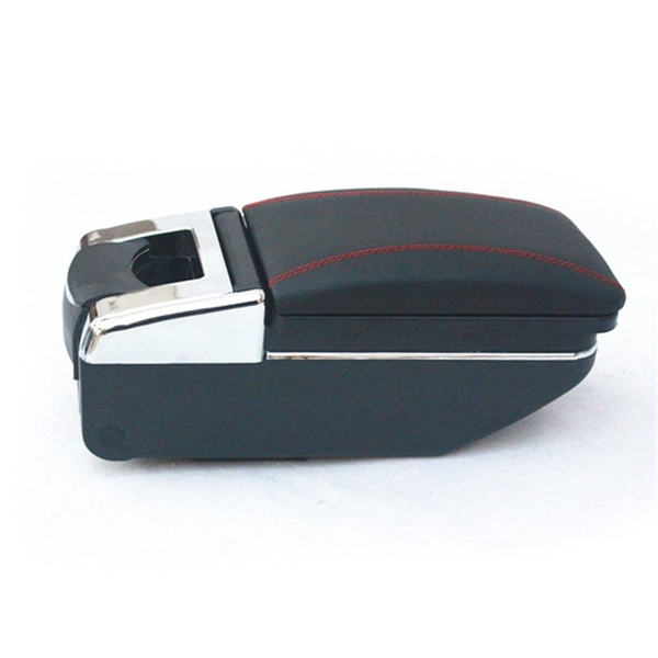 <strong>Car</strong> Storage Case Black PU Leather Central Container Armrest Box <strong>Center</strong> <strong>Console</strong> Organizer