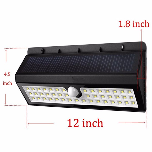 Wireless Bright Solar Powered Motion Sensor 44 Leds Light Outdoor ...