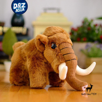 Stuffed Woolly Mammoth With Realistic Design Plush Stuffed