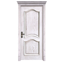 Turkish Classic Designs Popular Solid Wood Panel Paint Flat White Apartment Door