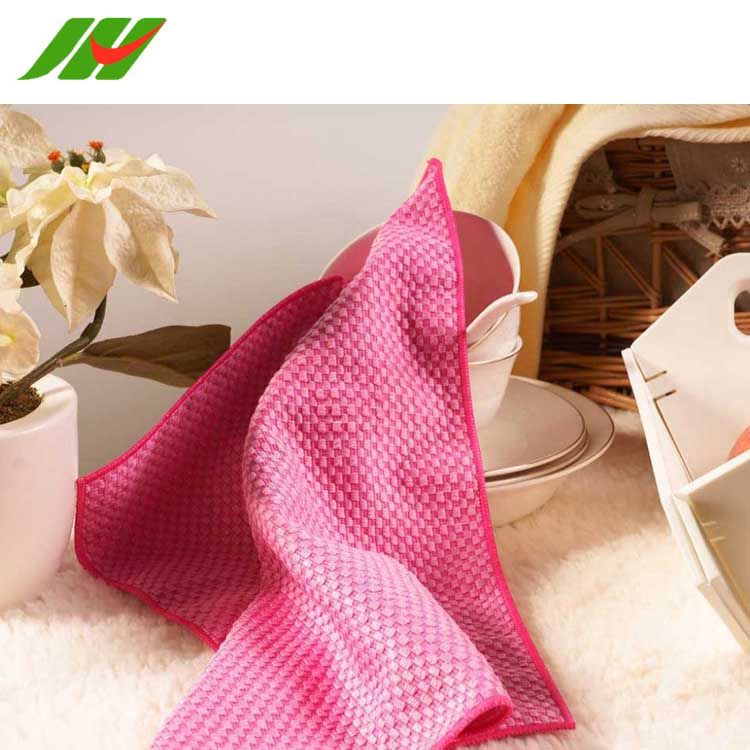 JH-TK011 Waffle Weave Cotton Microfiber Non Terry Kitchen Towels