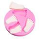 Little Feet Cake Mold Silicone Chocolate Pudding Soap Fondant Cake Molds Baking Tool For Your Baby