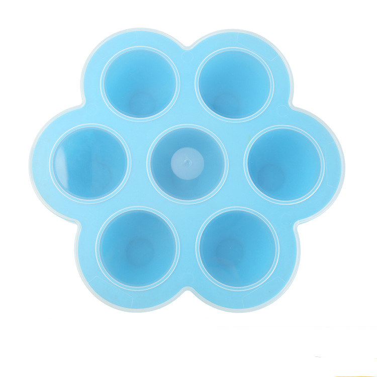 8oz/12oz colorful food grade heat resistant micro safe silicone baby ice tray food container