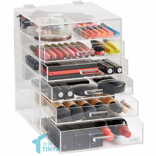 Groothandel 48 Slot Make-up Lipstick Display Holder Rack, Lip Balm Stand, Countertop Acryl Roterende Lipstick Display Stand Leverancier