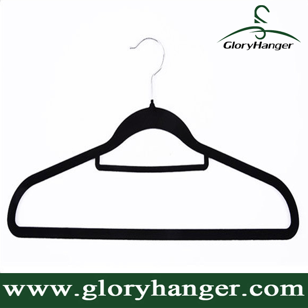 Factory Wholesale Super Quality Customizd Flocking Velvet Hanger Multifunctional for Clothes/Craves