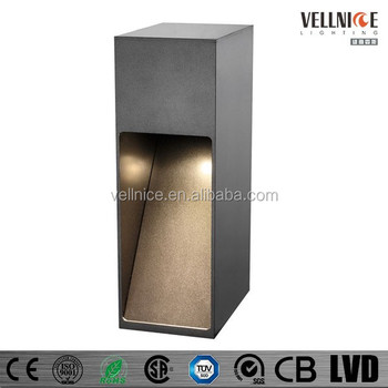 outdoor pillar lights square cob led garden light pillar waterproof outdoor pillar l3a0036