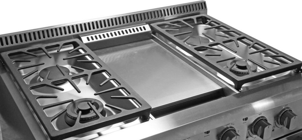 Thor Kitchen Commercial 6 Burner Gas Stove Oven Griddle Top