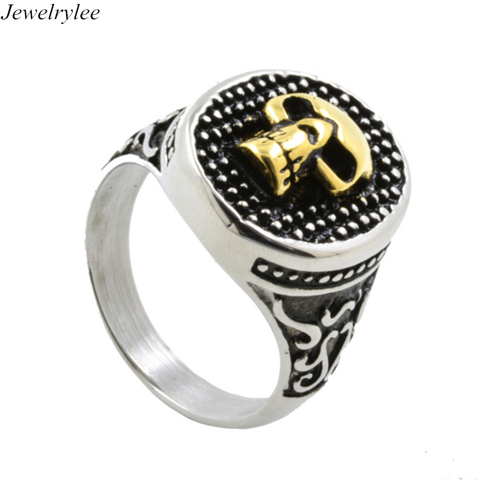 Europen American Retro Punk Rock Style The Expendables Skull Ring