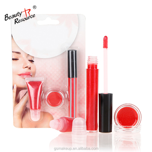 No Logo Liquid Lipstick Makeup Cosmetics 3 In 1 Lip Gloss Lip Balm Lips Oil Kit Sets