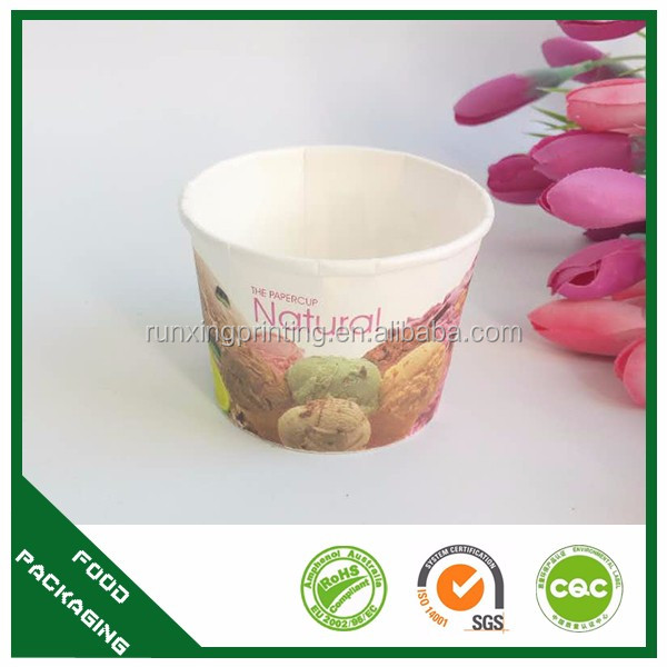 Factory Hot Selling Paper Ice Cream Cup With High Quality Custom Logo