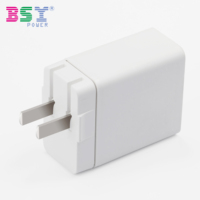 White Folding Plug Portable USB Wall Mount Mobile Phone Tablet 5V 3A Power Adapter