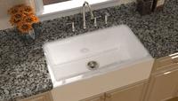 top mount apron front white cast iron enameled kitchen sinks/single bowl
