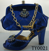 Hot-selling bags with rhinestones high heel woman party shoes rhinestone crystal shoe clips for wedding