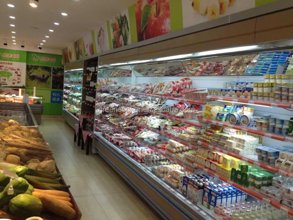 Supermarket Open Cooler Commercial Retail Refrigerator