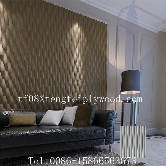 3d vague mdf pour home decor 3d salut mur mdf panneaux. Black Bedroom Furniture Sets. Home Design Ideas