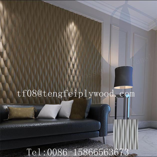 3d vague mdf pour home decor 3d salut mur mdf panneaux - Panneau mdf 3mm ...