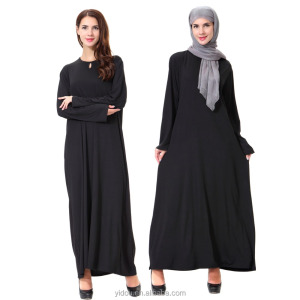 Muslim black abaya for ladies latest design muslim dress