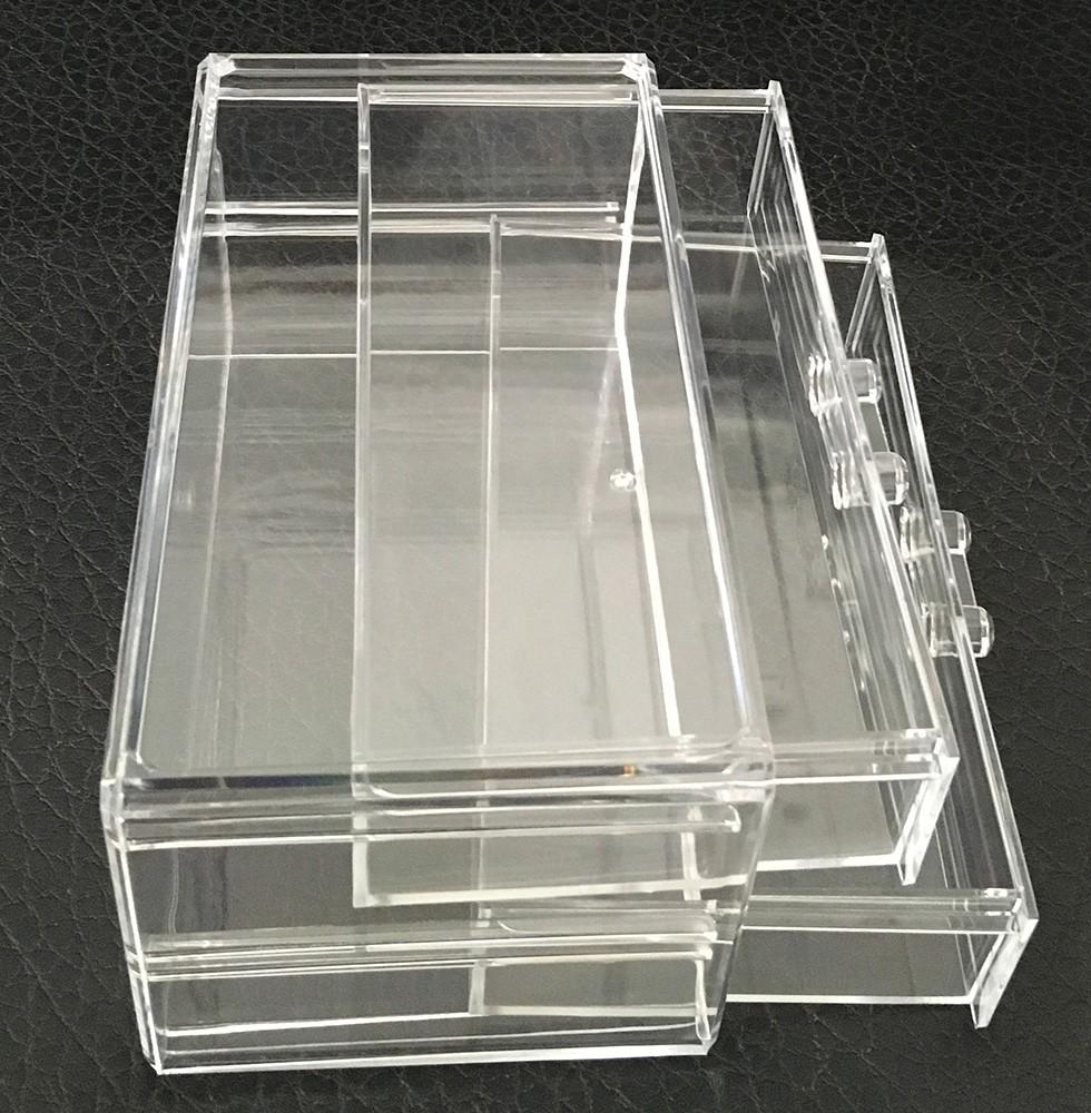 High quality clear acrylic storage tea box organizer table - Acrylic desk organizer ...