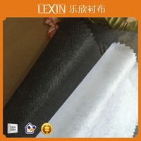 50% Polyester and 50% Nylon non woven fusible interlining&lining