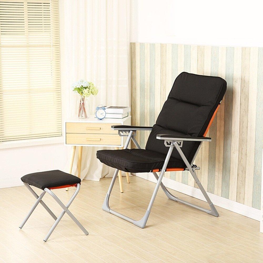 Winter chair single sofa chair / dorm computer chair / leisure folding chair / lunch break / autumn and winter modern simple chair ( Color : Black 1 )