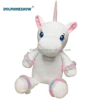 Big Kids Horse Unicorn Plush Toy With Embroider Logo Wholesale