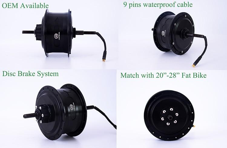 Jb 104c2 1000watt electric bicycle brushless hub motor for 250 watt brushless dc motor