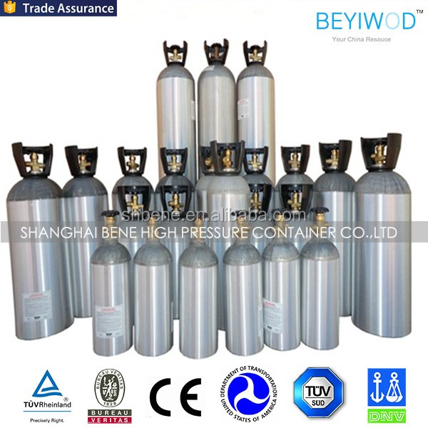 Aluminum CO2 Cylinder CO2 Tank CO2 Bottle for Beverage Machine