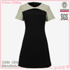 contrast color tall women clothing with a-line for formal/office wear