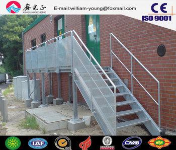 Steel Structure Simple Outdoor Stair,prefab Metal Stair