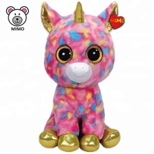 Fashion New Rainbow Pink Unicorn Plush Toy Wholesale Custom OEM Brand TY Stuffed Animal Soft Plush Unicorn Toys For Girls