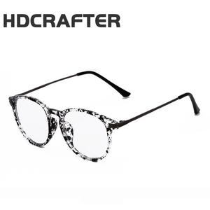 63d27c98173 HDCRAFTER Reading glasses Retro Unisex Metal points womens eye glasses  frame Brand optical glasses vintage female