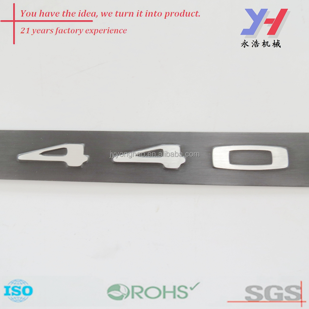 OEM custom new fashion metal internal car sign for auto decoration