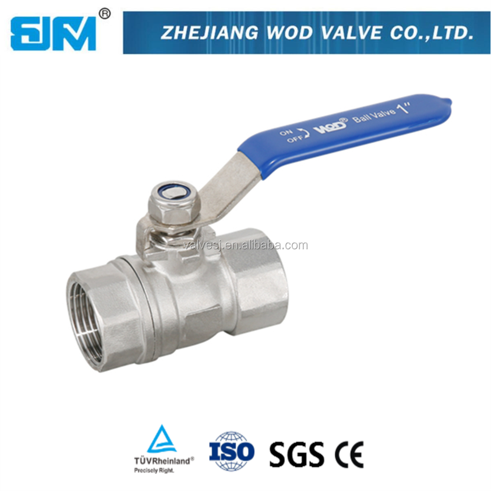 "hydraulic power 2"" stainless steel floating reduce bore 2pc ball valve"