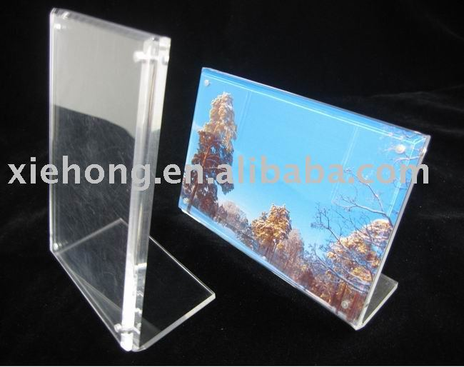 high transparent acrylic card display with 4 magnets