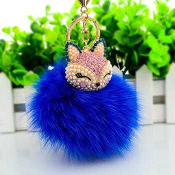 6863b249af8f Royal Blue Fur Keychain