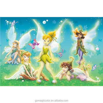 Cute Cartoon Fairy Tale Wallpaper Latest Designs Walpaper For Childrens Room