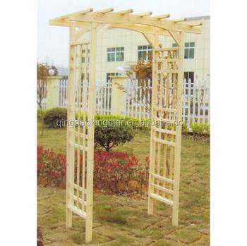 Solid Wood Outdoor Wooden Garden Arch