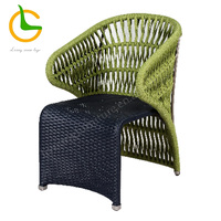 Weather resistant stackable rope woven KD outdoor porch furniture (accept customized)