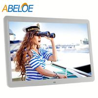 "digital photo frame wifi 15"" inch android touch lcd media player"