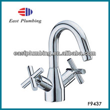 F9437 Chrome Two Cross Handle Bidet Faucet Mixer Tap For Bathroom,East-Plumbing Factory Directly Sale,Chrome Vessel Basin Faucet