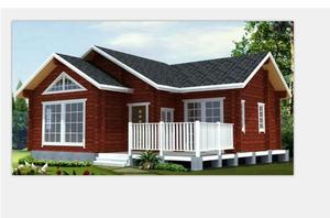 High quality prefabricated house germany bungalow home kits log cabin kits prefab house for sale
