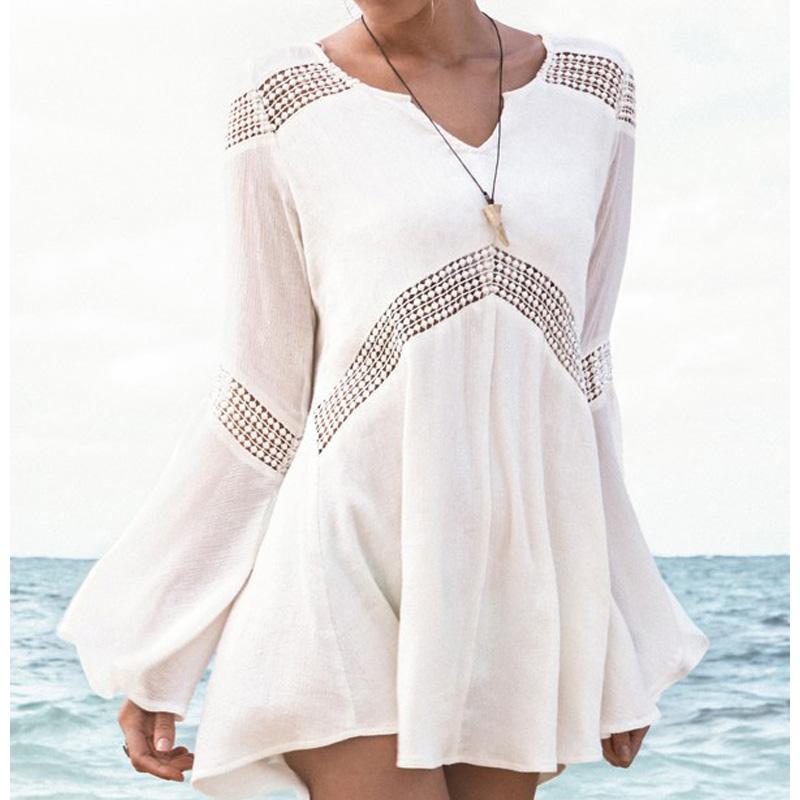 b0e210a88d21 Get Quotations · Cute Romper Beach Dress Sleeveless Bandeau Beach Dress  Knitting Women Stripe Beach Dress