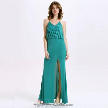 Elegant Princess Wedding Dresses Chiffon Fabric Long Emerald Green