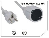 Germany Extension Cord with straight plug