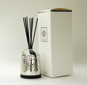 Wholesale Reed Diffuser Clear Glass Bottle With Black Cotton Sticks And Black wooden Holder