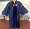Custom UK style phd unisex graduation stole cap and gown with embroidery logo