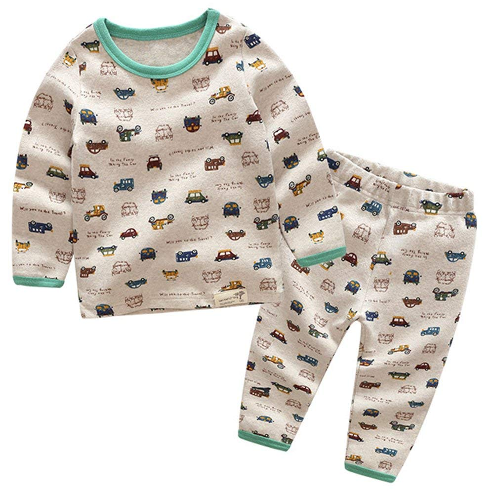 2feb074548 Baby Boy s Toddler Kids Child 2-Piece Cars Vehicle Cotton Pajamas Set  Sleepwear