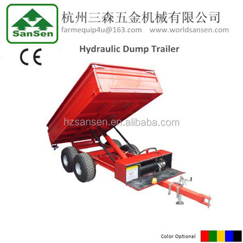dump trailer with hydraulic lift, tractor trailer, ATV dump trailer
